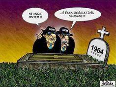 Brasil-Revolução de 1964-2009-Charge-Saudade de 1964-Charge de Bessinha