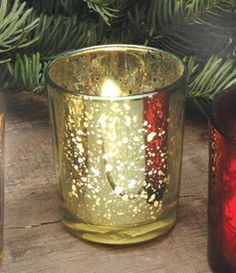 Rustic Gold Glass Votive Candle Holders, Set of 12 Glass Votive Candle Holders, Candle Holder Set, Votive Candles, Hanging Tea Lights, Candle Accessories, Gold Glass, Rustic, Flat Rate, Wedding Planner