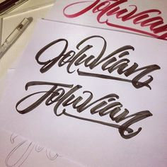 joluvian:  Parece que ya casi / it looks almost done #calligraphy