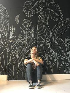 Botanical Mural on Behance Interior Room, Interior Design, Mural Art, Wall Murals, Mural Painting, Home Wallpaper, Bedroom Wall, Bedroom Murals, Chalkboard Art