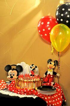 Mickey Mouse Birthday Party Cake - TheNewlywedPilgrimage.com