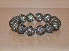 Ashley Sparkle Pave Crystal Ball Bead Bracelet