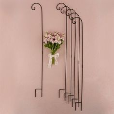 Red Barrel Studio Cortes Decorating Metal Hooks in White Wall Decor Color: Black Wedding Aisles, Wedding Aisle Decorations, Wedding Themes, Wedding 2017, Garden Wedding, Wedding Venues, White Wall Decor, Black Decor, Shepard Hooks Wedding