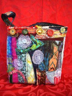 Designer Handmade Fabric HandbagGypsy Chic by lynnetteapriljewels, $70.00