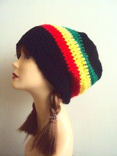 Crochet Super Slouchy Beanie Spring Hat Summer Hat Bob Marley Style Dreadlock Hat Festival Hat Rasta Beanie Beach Accessories Street Style