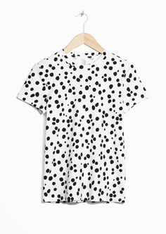 & Other Stories image 1 of Polkadot T-Shirt in White