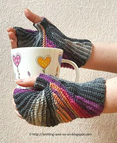 Make mittens that will not stop you from completing everyday tasks when you learn how to crochet this striped crochet pattern.