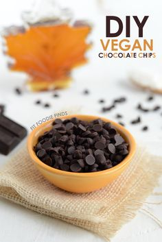 How to Make Vegan Chocolate Chips- Make dairy free chips with maple syrup and coconut butter or cocoa butter