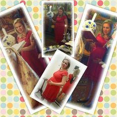 God mother mom-to-be wearing Secret Berry Dress:))