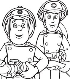 fireman sam elvis colouring in
