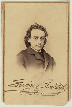 Portrait of Edwin Booth, Brother of John Wilkes Booth