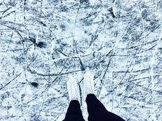 Ice-skating #ice #iceskating #me #pond #winter #snow #myhobby