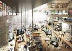 BIG, OMA & Buro Ole Scheeren win Axel Springer Campus Berlin competition OMA's proposal