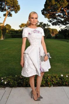 Palm Springs Film Festival Inspo: Cannes Film Festival 2012 Best Dressed - Diane Kruger wearing Chanel at the amfAR Cinema Against AIDS gala.