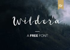 "Check out this @Behance project: ""Wildera - Free Font"" https://www.behance.net/gallery/40239727/Wildera-Free-Font"