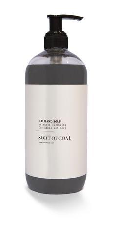 Sort of Coal - HAI HAND & BODY SOAP. Contains activated charcoal