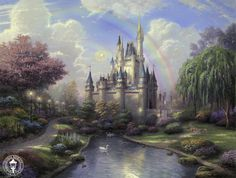 Thomas Kinkade Paintings Religious | Painter Thomas Kinkade Dies at Age 54 | The Disney Blog