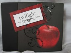 Twilight Scrapbook Album, Breaking Dawn Scrapbook Album, Twilight Photo Album by Island Lilly Designs. $52.00, via Etsy.