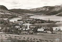 Oppland fylke Lom mot Skjåk 1950-tallet Utg Harstad forlag