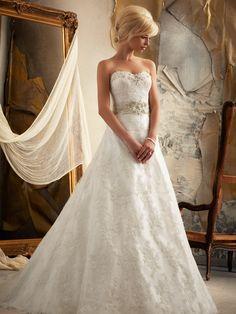 Sweetheart Full A-line Mori Lee Bridal Gown 1913|DimitraDesigns.com
