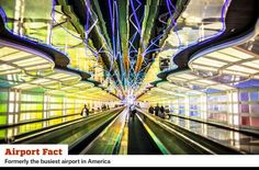 O'HARE INTERNATIONAL AIRPORT, CHICAGO: One of the nation's largest and busiest airports, has a long history. Opened in the early 1940s as a manufacturing plant for military aircraft, it turned commercial in the 1950s and has expanded ever since, now with eight runways. O'Hare was the busiest airport in the nation until a deluge of flight cancellations forced it to cut back on flights.