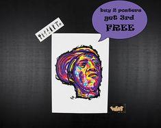 FLAVOR FLAV by Public Enemy rap poster. unique gift for hip hop lovers, hip hop art, wall art, rap posters, hip hop decor, hip hop music