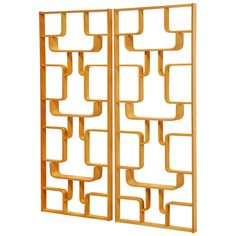 Czech Plywood Room Divider Set by Drevopodnik Holesov, 1960 | From a unique collection of antique and modern home accents at https://www.1stdibs.com/furniture/more-furniture-collectibles/home-accents/