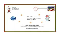 letter from santa envelope template free printables pinterest