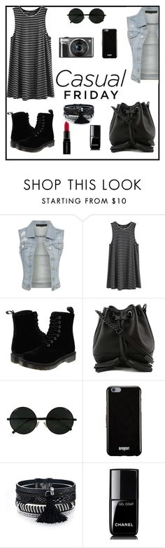 """Again I'm casual"" by maya-catalin ❤ liked on Polyvore featuring Dr. Martens, Rebecca Minkoff, Givenchy, Chanel and Smashbox"
