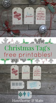 Free Christmas Gift Tag Printables - Make your gift wrapping easier with these free tags!