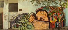 graffiti de izak y henruz en bellavista, santiago de chile