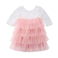Material: Cotton,Polyester Style: Cute Decoration: Flowers Silhouette: Ball Gown Sleeve Length(cm): Full Pattern Type: Solid Sleeve Style: Regular Dresses Length: Ankle-Length Collar: O-neck Built-in Bra: No Department Name: Children Gender: Girls Pink Tutu Dress, Girls Lace Dress, Girls Pageant Dresses, Lace Party Dresses, Dresses Kids Girl, Ball Gown Dresses, Girl Outfits, Baby Dress, Wedding Dresses