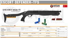 Hatsan Arms Company - ESCORT Defender-TFS Firearms, Shotguns, Tactical Accessories, Tactical Shotgun, Gun Art, Sci Fi Weapons, Custom Guns, Army Vehicles, Cool Guns