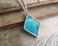 Heart pendant red glass jewelry glass heart by SunDogArtAndGlass