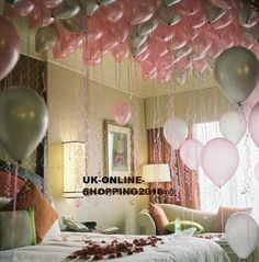 25-100 Pink & Mix Colour Metallic Balloons For Wedding Mothers Day Baloons