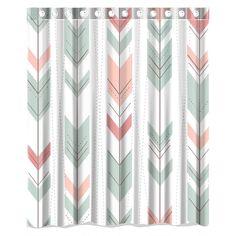 "Amazon.com - fresh and clean Cute Arrow Aztec pattern Waterproof Bathroom Fabric Shower Curtain, Bathroom decor 66"" x 72"" -"