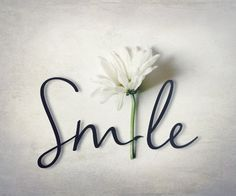 Word Photography with Flower Smile white daisy by FirstLightPhoto, $30.00