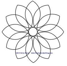 SUNFLOWER STENCIL FLOWER stencils template flowers petal