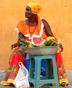 Palenquera Afro Cuban, Cuban Art, Cuban Culture, African Culture, Colombian Art, Vintage Black Glamour, World Of Color, People Of The World, Pictures To Paint