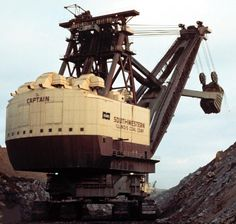 The Captain was built in 1965 and was the world's largest power shovel, until it was scrapped in 1992
