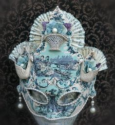 Dances Of Vice Mask-Swan Lake in Blue- Sweet Ruin... on Etsy★❤★