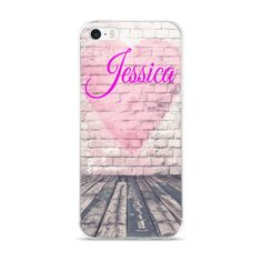 Heart Wall Monogrammed Cell Phone Case - iPhone & Samsung Note 4 Custom