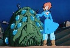 Nausicaa and an Ohmu ナウシカと王蟲(オーム)