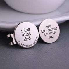 May the Course Be with You and Nice Shot Dad Golf Ball Markers Set – georgie designs personalized jewelry