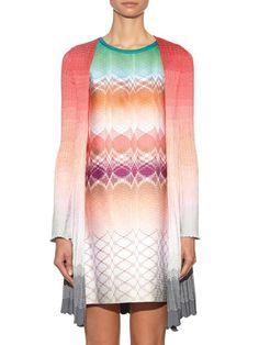 Missoni Long-sleeved dégradé-knit cardigan
