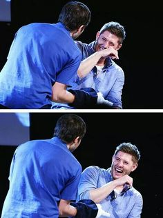 Love this man's laugh - and nobody makes him laugh like Misha