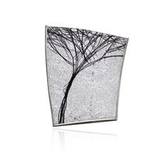 ORRO Contemporary Jewellery Glasgow - Gill Galloway Whitehead - Silver Tree Brooch - Sterling Silver - Oxidised Sterling Silver