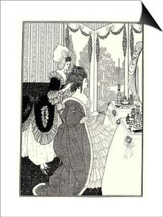 The Toilet (Illustration for the Rape of the Lock by Alexander Pop), 1894 SwitchArt™ Print by Aubrey Beardsley at Art.com