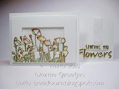 Anita 's Warme Groetjes Rubber Stamping, Frame, Flowers, Decor, Picture Frame, Decoration, Decorating, Frames, Royal Icing Flowers