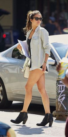 Leggy Nina Dobrev & boyfriend Austin Stowell put on VERY amorous PDA - Celebrity Fashion Trends
